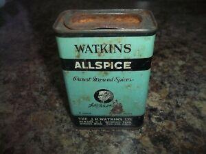 Vintage Watkins Allspice Green And Black Spice Tin 3 Oz