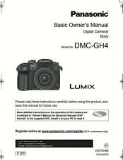 Panasonic Lumix DMC-GH4 Digital Camera BASIC OWNER'S MANUAL (132 page)