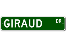 GIRAUD Street Sign - Personalized Last Name Signs