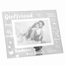 Sixtrees Moments Bevelled Glass Girlfriend 6 X 4 Picture Photo Frame Xmas Gift