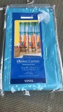 "Home Trends Vinyl Shower Curtain ""Malibu Beach Party"" 70 in W X 72 in Length"