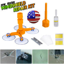 Car Windshield Windscreen Glass Scratch Chip Crack Repair Fix Tools Diy Kit Us