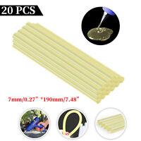 20 PCS Car Hot Melt Yellow Glue Sticks DIY Arts Paintless Dent Repair Tool Set