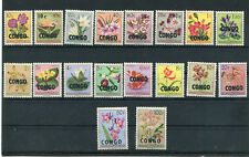 Belgian Congo Flowers,1960 overprinted CONGO Republic,all stamps MNH OG