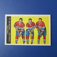 HENRI RICHARD 1960-61 Parkhurst # 57 LINE Dickie Moore Montreal Canadiens NM/MT