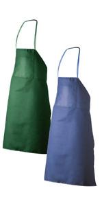 Schürze Werkenschürze Arbeitsschürze Berufsschürze blau oder grün NEU