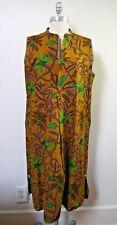 NEW DOSA botanical print sleeveless cotton dress size 4 Large