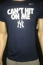"""Nike New York Yankee's """"Can't Hit On Me"""" T-shirt Women's XL"""