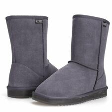 NEW ACEVOG Women's Eva Cozy Suede Snow Winter Boots Gray Size: 9 B(M) US /40