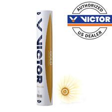 Victor Gold Feather Badminton Shuttlecocks / 1 Tube of 12 Shuttlecocks