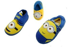 Boys Girls Kids Minions Despicable Me Slippers Size 6 7 8 9 10 11 12 13 1 2