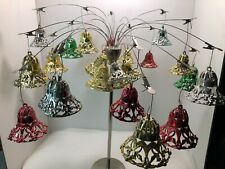 Lot of 23 Vintage Shiny Brite Retro plastic ornaments - lace bells