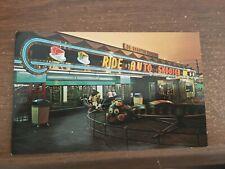 AUTO SKOOTER RIDE AT ROCKAWAYS BEACH PLAYLAND QUEENS LI NY post card