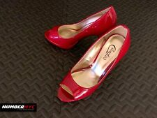 Candie's Womens Ladies Red High Heels Peep Open Toe Shoes Pumps Size 9 Heart