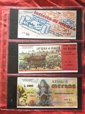 Lotto Biglietto Lotteria MONZA + VENEZIA + MERANO 1984 usati