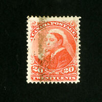 Canada Stamps # 46 XF Fresh Used Catalog Value $125.00