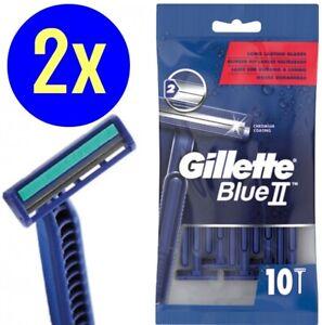 20 Stück Gillette Blue 2 II Einwegrasierer Herrenrasierer Rasierer NEU/OVP 2x10