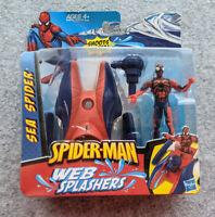 Spiderman Web Splashers Sea Spider, Hasbro 2009 Marvel Action Figure Water NIP