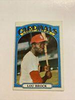 1972 TOPPS #200 LOU BROCK ST. LOUIS CARDINALS BASEBALL CARD NM