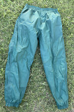 Vtg Adidas Mens Windbreaker Track Pants Sz Large Dark Green 90s