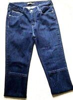 Levis Women's Size 12 Mid Rise Skinny Stretch Jeans Dark Wash