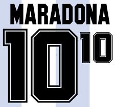Argentina Maradona 1994 Nameset Shirt Soccer Number Letter Heat Print Football H