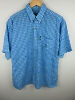 Timberland Performance Mens Shirt Size XL Short Sleeve Button Up Regular Fit