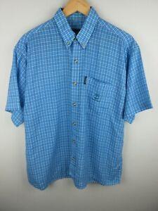 Timberland Performance Mens Shirt Size XL Short Sleeve Button Up Regular Fit