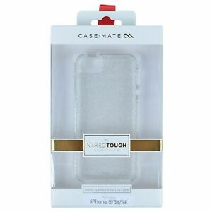 CASE MATE NAKED TOUGH CASE FOR IPHONE 5/5S/SE CHAMPAGNE SHEER GLAM SUPM46933 NEW