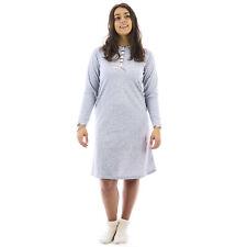 Camicia da notte donna invernale in caldo cotone interlock felpata  0DICAM034
