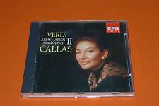 """CD VERDI """"AIRS D'OPÉRAS VOL. 2"""" MARIA CALLAS DIR. N. RESCIGNO / EMI 1987 TB ÉTAT"""