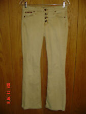 Junior's LEI Button Fly Khaki Stretch Denim Jeans Size 7 29x31 P166