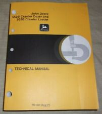 John Deere 550b Dozer 555b Loader Technical Service Shop Repair Manual Tm1331