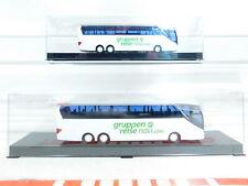 BX373-0, 5 # 2x AWM 1:87 / H0 Bus Setra S 516 Hdh Gruppenreise Navi, Mint+Box