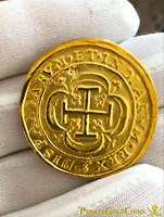 MEXICO 1714 ROYAL 8 ESCUDOS PURE 22kt. GOLD DOUBLOON 1715 FLEET TREASURE COIN