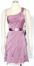 Adrianna Papell Dusty Rose Cocktail Dress Size 16 Chiffon Tiered Women' New*