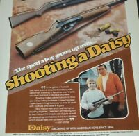 1976 Daisy BB Gun Johnny Unitas Football Son Ken Boys Rifle Vintage Print Ad