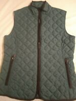 Eddie Bauer Women's Quilted Vest 550 Fill Goose Down Teal  Size XS Insulated