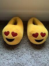 Women's Yellow Emoji Slippers