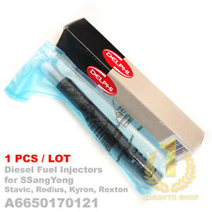 1PCS Delphi CRDI Diesel Fuel Injector A 6650170121 for SsangYong Rexton Euro 3