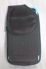 Black Camo Nylon Belt Clip Loop Big Pouch For Phone with Thick Case on