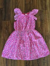 Gymboree Girls Summer Pink Floral Dress Size 6