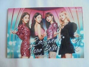 BlackPink Photograph All Members autograph hand signed