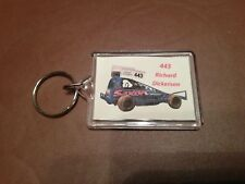 RICHARD DICKERSON 443 F1 TARMAC CAR DOUBLE SIDED KEYRING BRISCA STOCK CAR RACING