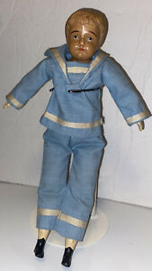 "Antique 1918-1924 Louis Sametz 13"" Celluloid Boy Doll- Rare!!"