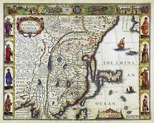 1626 Map of Asia and the Kingdom of China Unusual Exploration Map - 16x20