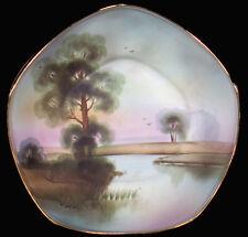 "1900's Morimura Japan Nippon China Landscape Pattern 9.5""d Centerpiece Bowl"