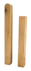 Hilwood Holzpfosten Pfosten Zaunpfahl Kantholz Eiche 7 x 7 cm, 9 x 9, 10x10 etc