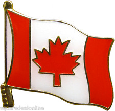 47041 Canadian Flag ENAMEL PIN Badge Button Lapel Canada French New
