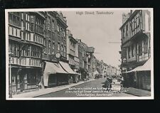 Gloucestershire Glos TEWKESBURY High St c1900s? PPC by Atkins Abbey Studio